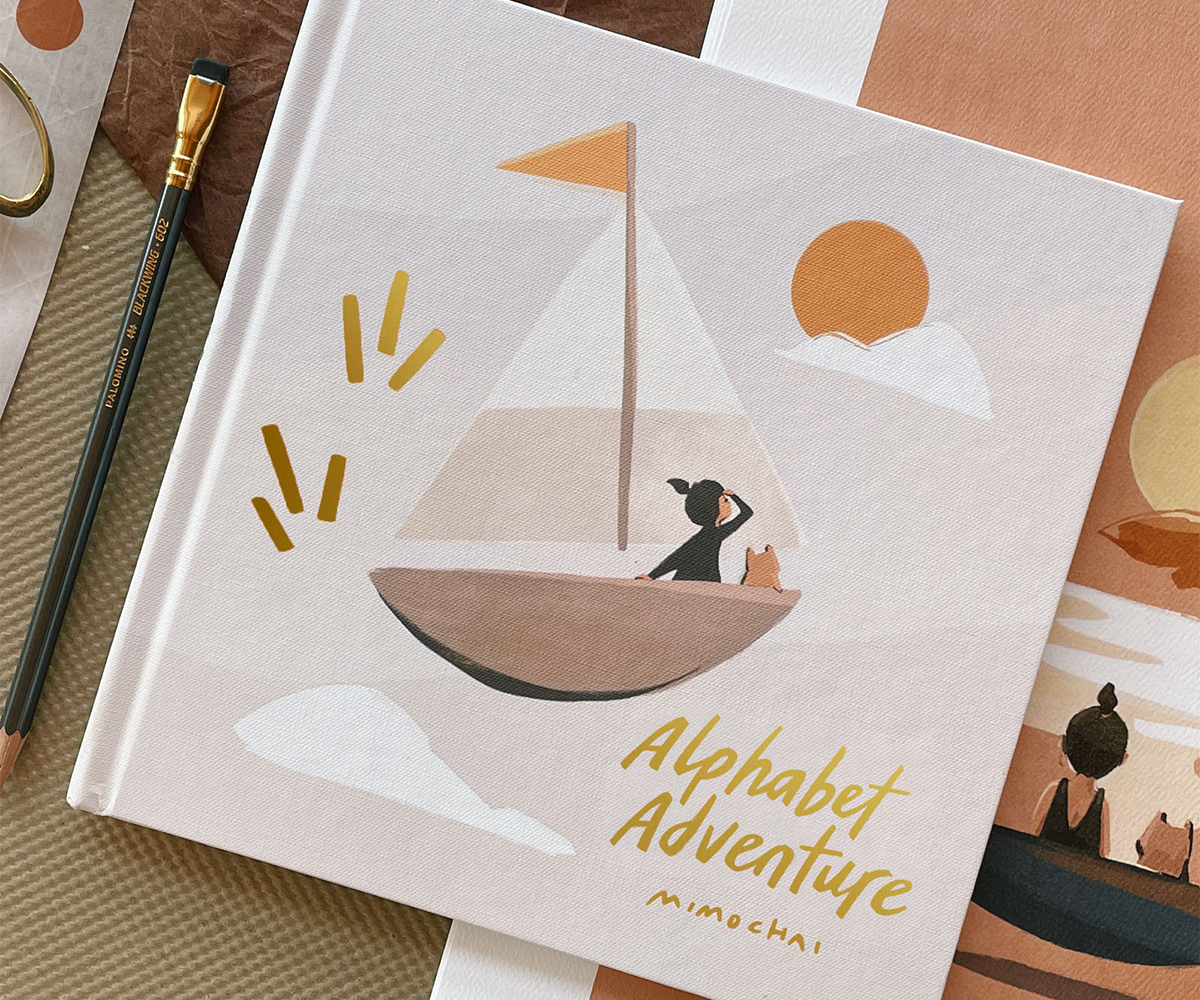 Illustrated Alphabet Book created by @mimichao using the Artifact Uprising Photo-Wrapped Hardcover