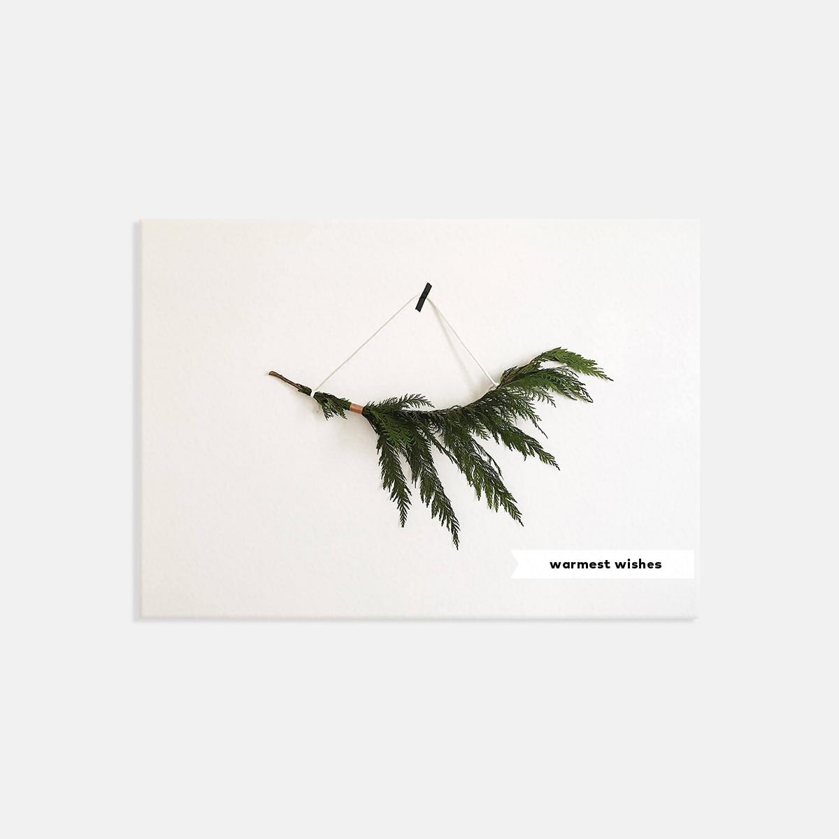 Artifact Uprising Minimal Ribbon Holiday Card