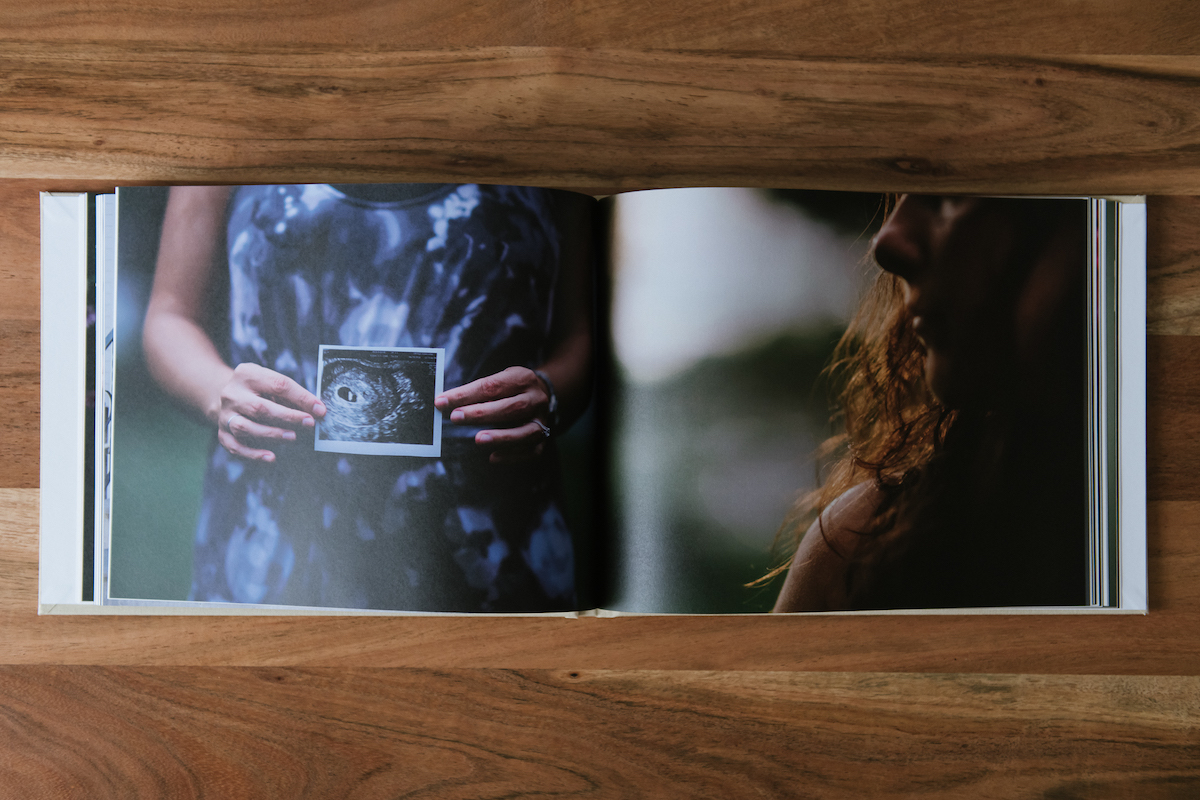 Interior pages of Artifact Uprising Hardcover featuring photos by Martha Swann-Quinn
